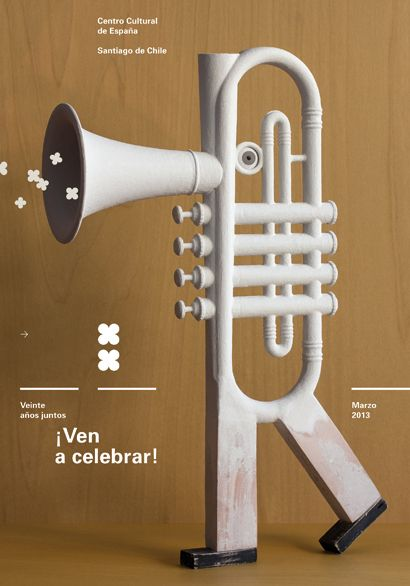 By Isidro Ferrer. Celebración 20 aniversario, Centro Cultural de España en Santiago de Chile