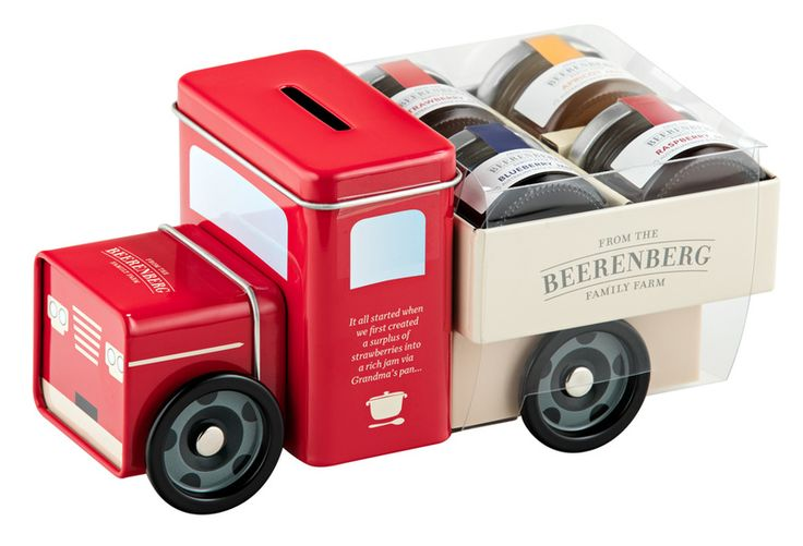One for the kids, 'Lester' Farm Truck Moneybox, has wheels that turn, and carries four 30g mini Jars of jam to delight either the little ones or Mum and Dad. Grab yours online today. #Beerenberg #GiftIdeas #Jam #iChooseSA