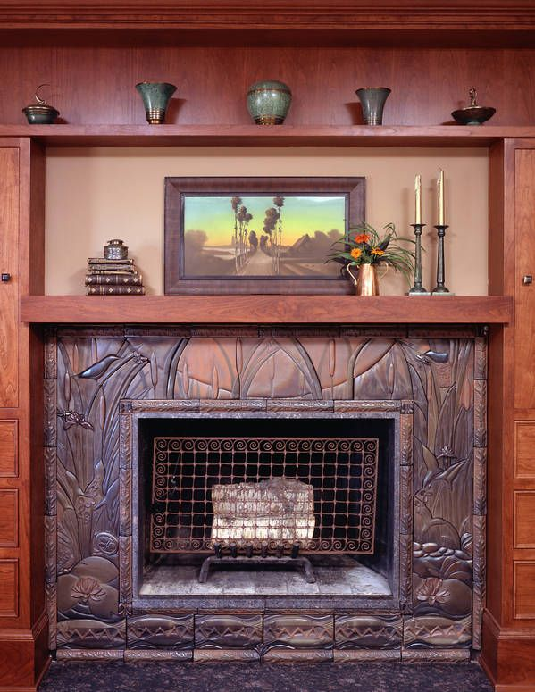 1000 images about craftsman style fireplaces on pinterest for Craftsman fireplace pictures