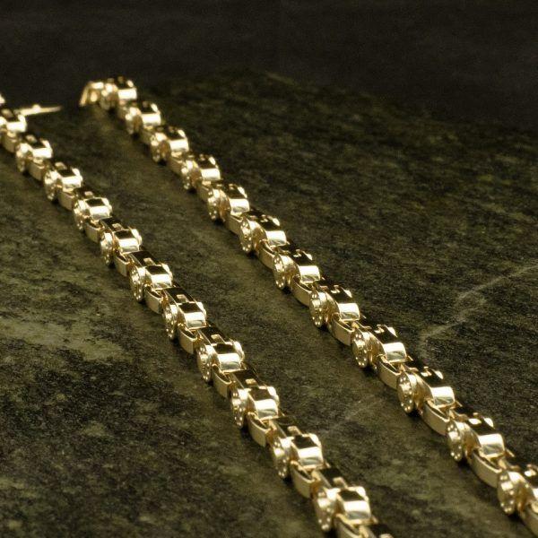 Цепь золотая модульная «Карусель», золото.  Кустодия-творческая мастерская. Ювелирные украшения ручной работы./ Цепи и браслеты золотые и серебряные/