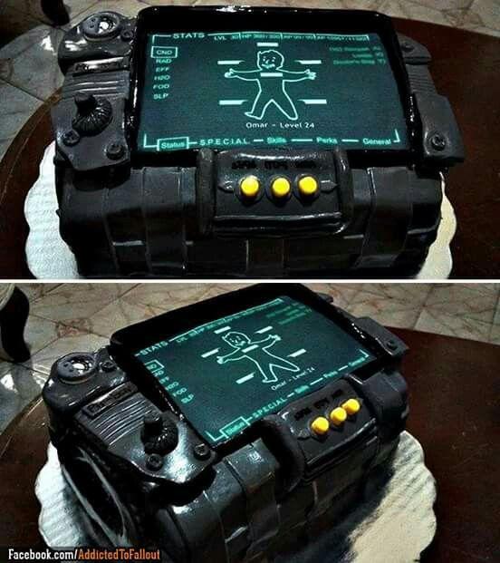 Pip Boy Groom S Cake