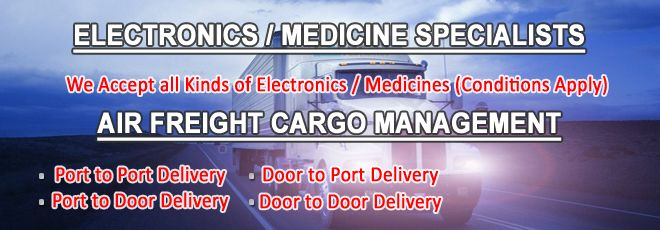 Express Air Logistics specialist in International Air & Sea Freight Cargo from India to any part of the World covering USA, UK, Europe, Dubai etc. We are an innovative and energetic company providing logistics support and consultative transportation services.