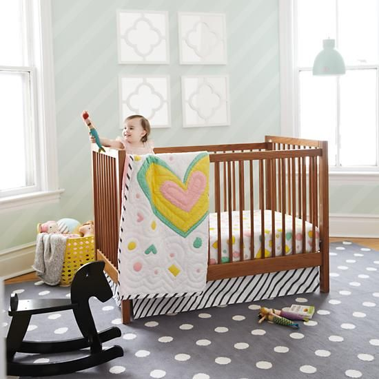 Andersen Crib (American Walnut): converts to toddler bed with optional conversion kit; made in USA