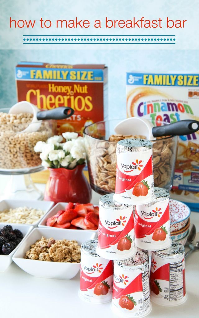 """Great idea for """"the morning after"""" your kids's sleepover party How+to+Make+a+Breakfast+Bar+from+MomAdvice.com"""