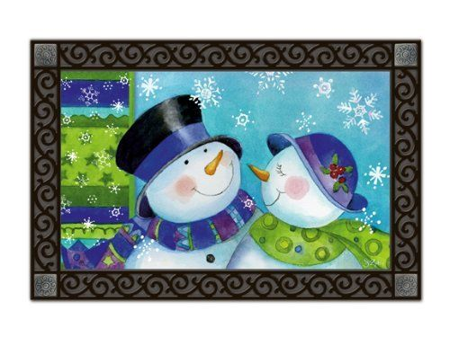 Snow Couple Indoor Outdoor Doormat by Magnet Works. $19.99. PLEASE NOTE YOU ARE PURCHASING THEDOORMAT ONLY. THE PICTURE SHOWS THEDOORMAT PLACED IN THE DESIGNER DOORMAT FRAME WHICH IS SOLD SEPARATELY IN OUR STORE.THEDOORMAT CAN BE USED WITHOUT DOORMAT FRAME. Thisdoormat will look beautiful outside your home when placed inside our Designer Doormat Frame, or to show off your mat inside your home use our Comfort Mat to enhance the look of any room. (These acce...