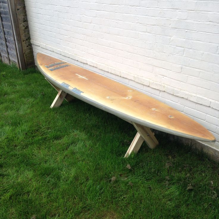Surfboard bench