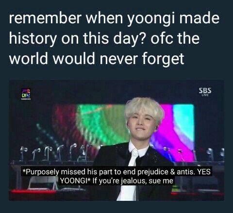 I love Savage Yoongi, he is always right ~