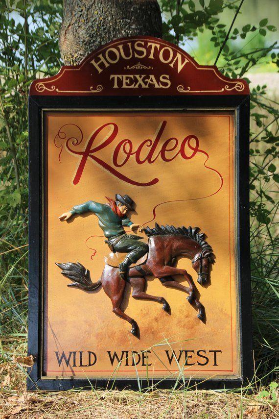 Rodeo Wall Art Cowboy Wall Art Houston Texas Horse Decor Horse Art Horse Painting Bar Decor Pub Decor Rodeo Wall Decor Horse Rider Western Cowboy Wall Art Horse Decor Horse Art