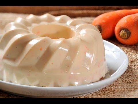 Gelatina de zanahoria con piña y nuez - Carrot Jello with Pineapple and Walnuts - YouTube