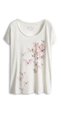 shiny print t-shirt in 100% cotton