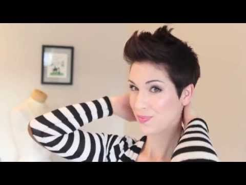 How to style a faux hawk on pixie hair - YouTube