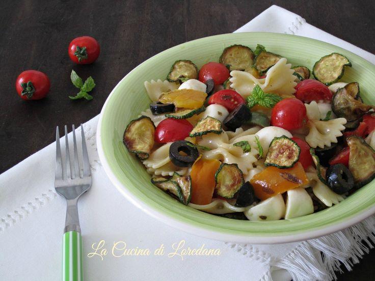 Pasta fredda zucchine e peperoni