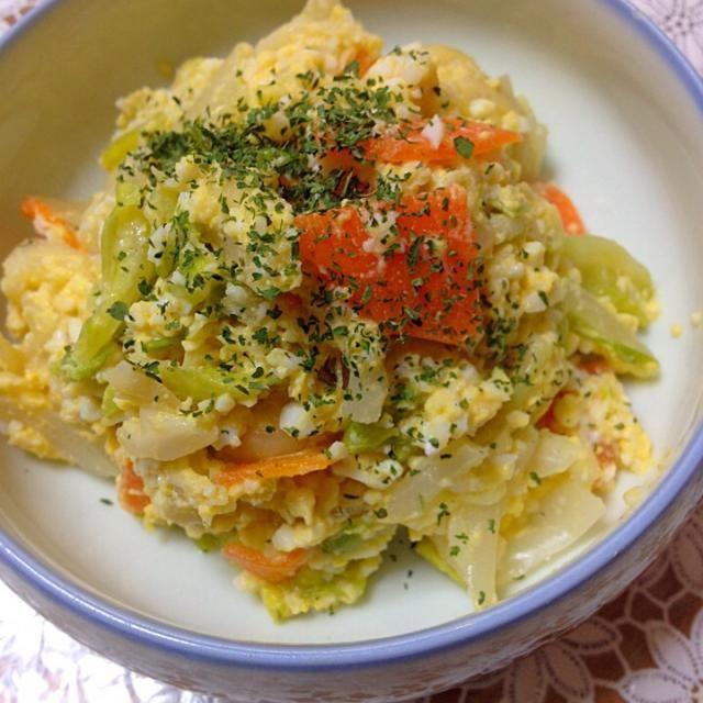 レタスのタルタルサラダ。 写りは悪いですが、美味しくいただきました(^_−)−☆ - 40件のもぐもぐ - レタスのタルタルサラダ〜 by poyon