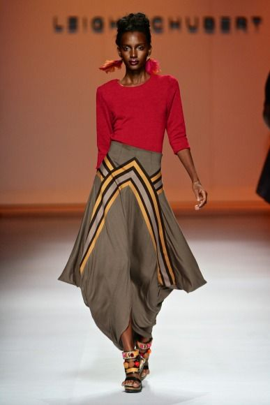 Akiiki: South Africa Fashion Week 2015 MARRIANE FASSLER AND AFRIKANSWISS DECONSTRUCTED DENIM AND POSH PRINTS. MODEL WATCH AAMITO STACY LAGUM
