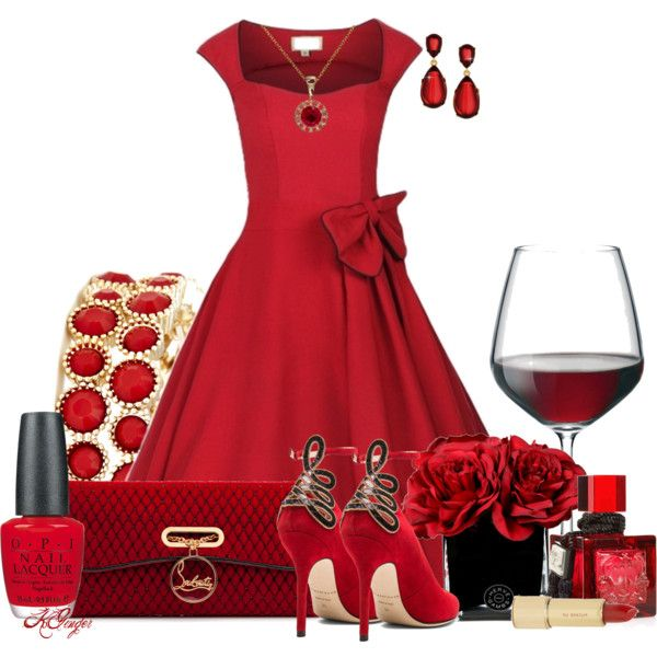 """Red is for Love Contest"" by kginger on Polyvore"