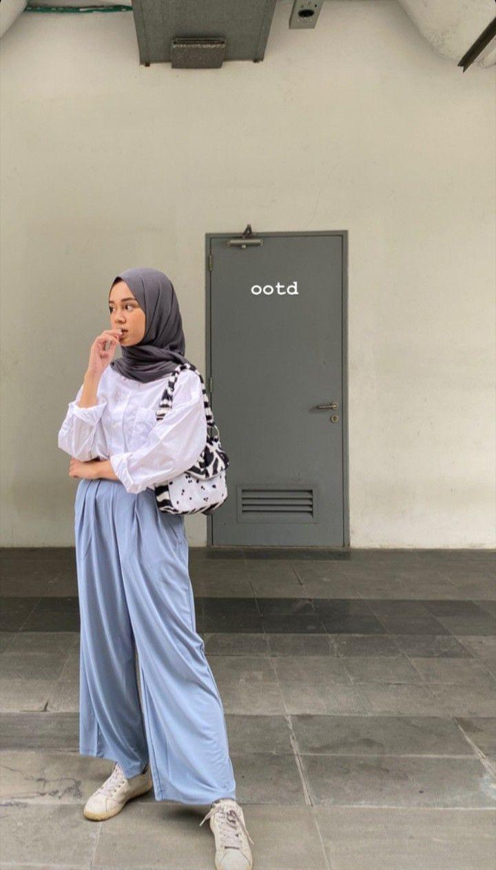 Pin Oleh Asqina Aminuddin Di Ootd For Hijab Style Di 2020 Casual Hijab Outfit Perlengkapan Hijab Model Pakaian Hijab