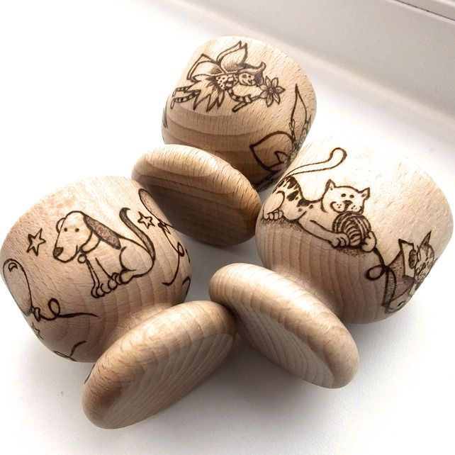 Personalised Wooden Pyrography Egg Cup, Easter gift,  Easter Egg,  £8.50
