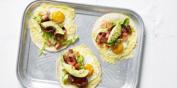 BLAT Breakfast Tacos via @iquitsugar