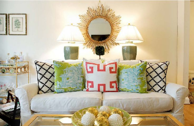 Palm Beach Chic Living Room with Sail to Sable- Jennifer Stocker on The Glam Pad