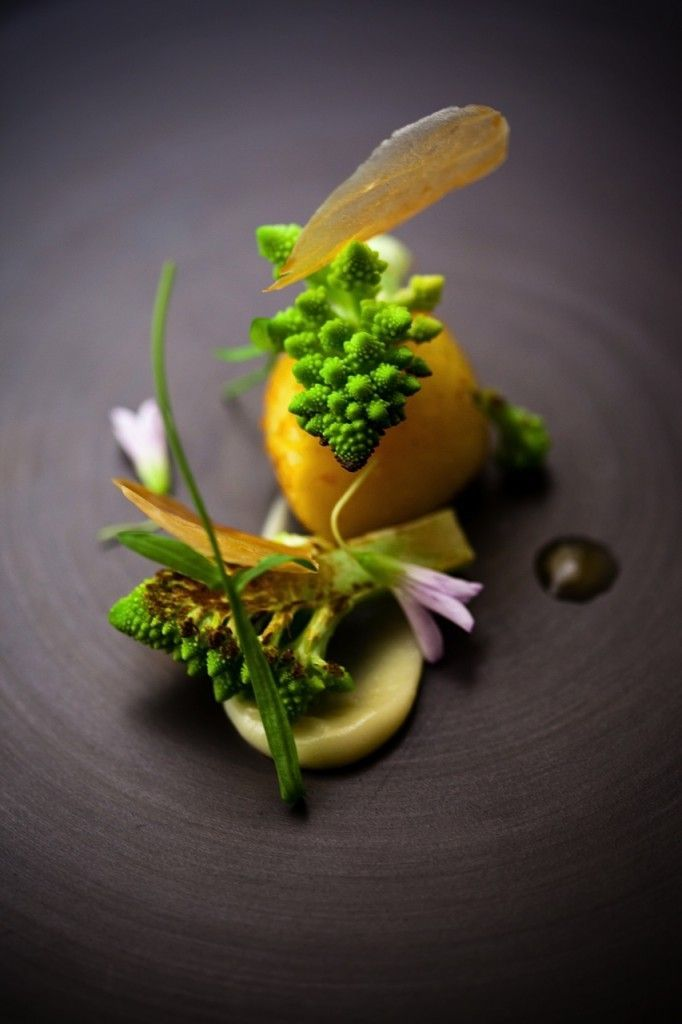 Beautiful dish - scallops romanesco madras curry by Chef David Toutain #truefoodies #fortruefoodiesonly