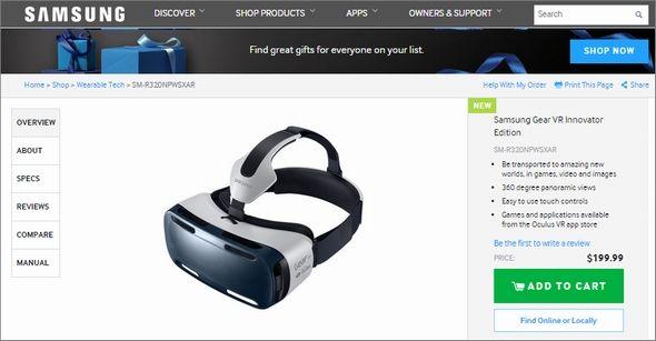 SamsungがOculusと共同開発したヘッドマウントディスプレイ「Gear VR Innovator Edition」を米国で199ドルで発売した。使うには約800ドルの「GALAXY Note 4」も必要。