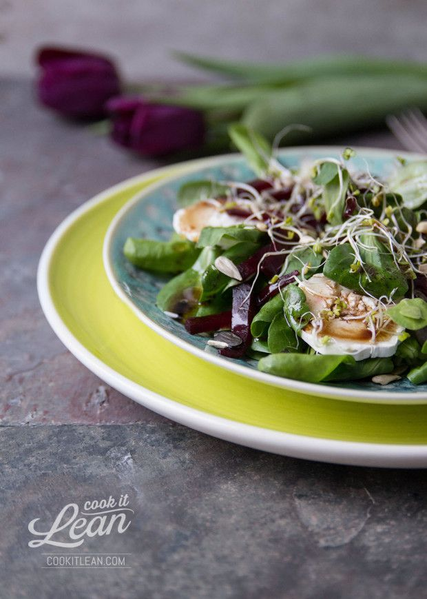 goat cheese and sprouts salad