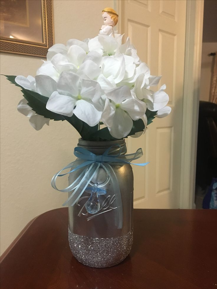 Heaven sent baby shower theme centerpiece for