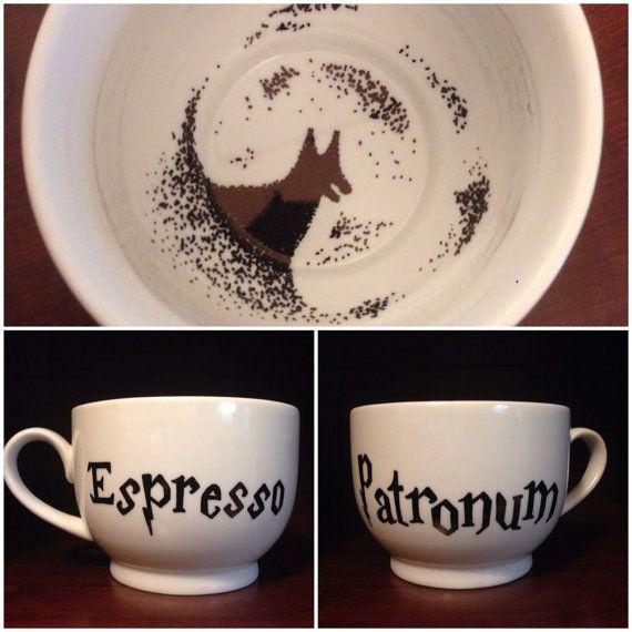 I don't care that it's a $30 coffee mug, I want it SO BAD!! Handmade Harry Potter Mug Grim Edition by TooLegitTooKnit on Etsy