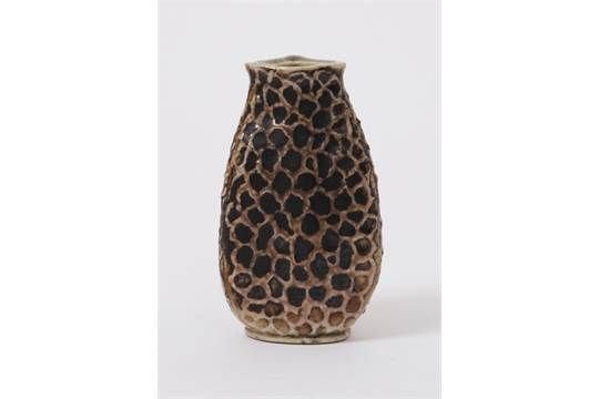 A Martin Brothers stoneware gourd vase by Edwin & Walter Martin, dated 1902, swollen form taperi