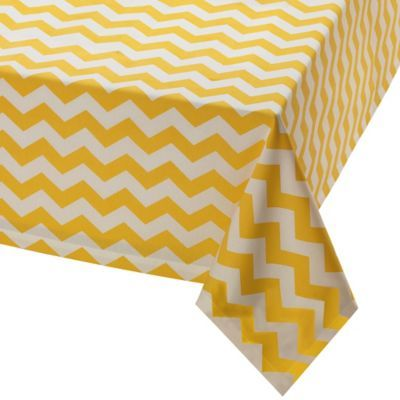 Snapdragon Chevron Tablecloth - BedBathandBeyond.com