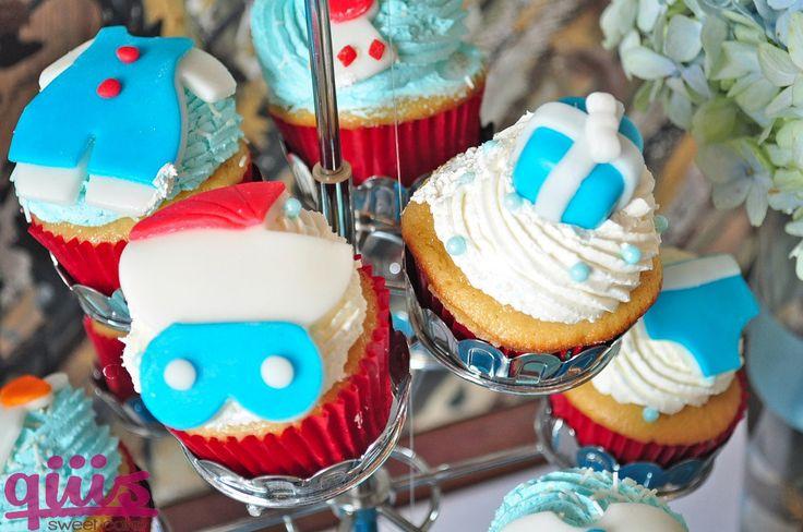 Cupcakes de vainilla diseño baby shower.