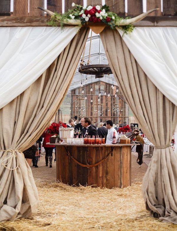 country barn wedding tent ideas / http://www.deerpearlflowers.com ...