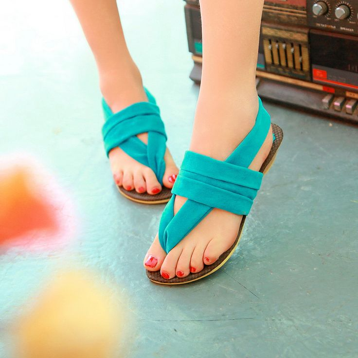 2013 new nubuck leather low-heeled flip-flop summer wedges candy color fashionable casual women's sandals / free shipping