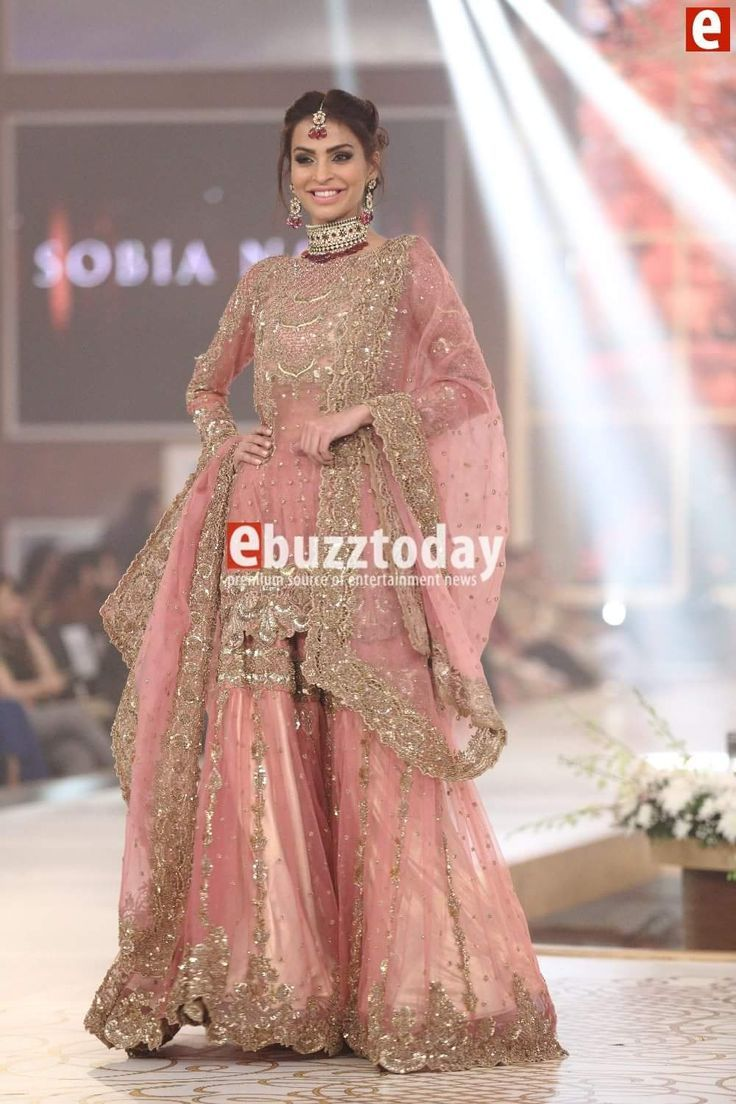 Cool Amazing Sobia Nazir at Telenor Bridal Couture Week 2015... Dulhan dress pakistani
