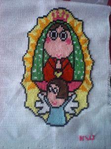 Virgen de Guadalupe animada Medidas: 12×15 cm Precio: $80 (Mexico)