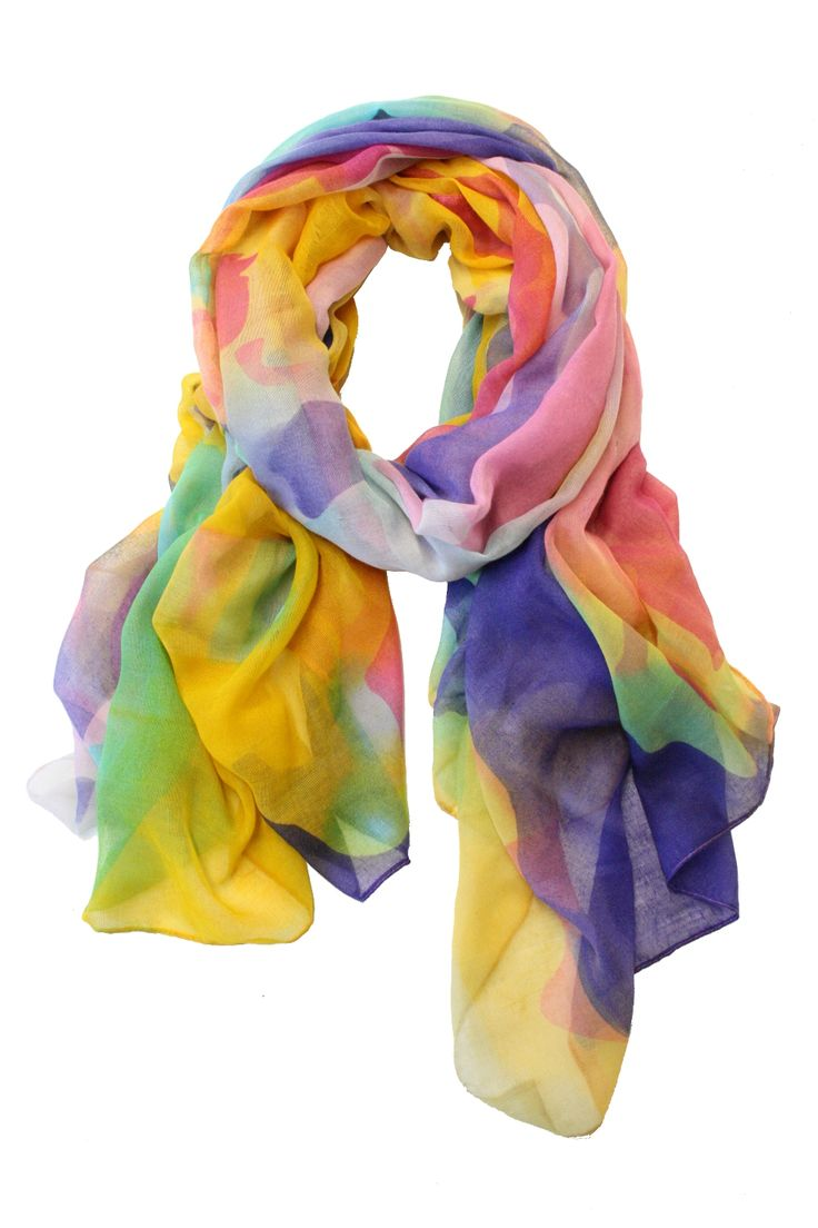 Colorful Stroke scarf by Printed Village