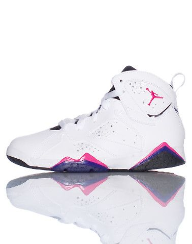 JORDAN Retro 7 Mid top girl's sneaker Lace lock JORDAN jumpman logo on ankle of shoe Perforation throughout for breathability Cushioned sole for comfort
