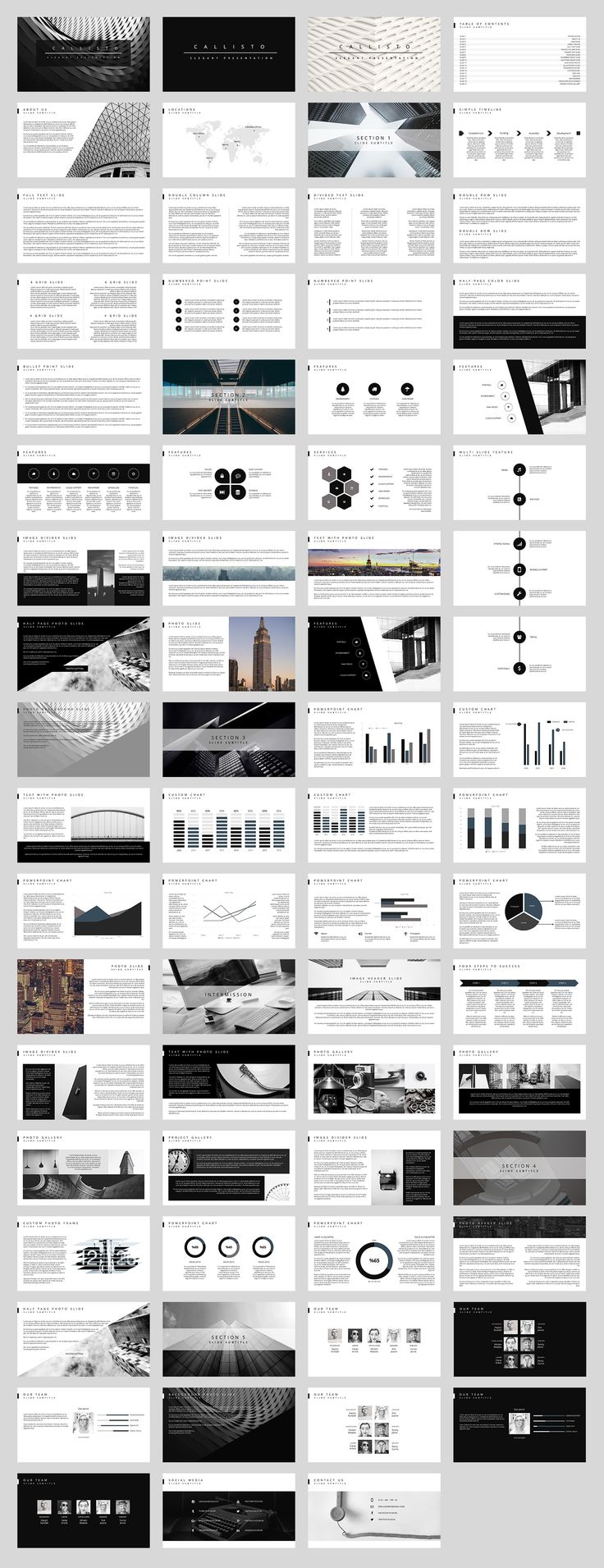 Callisto PowerPoint Template by SlideStation on @creativemarket simple/ template/ powerpoint