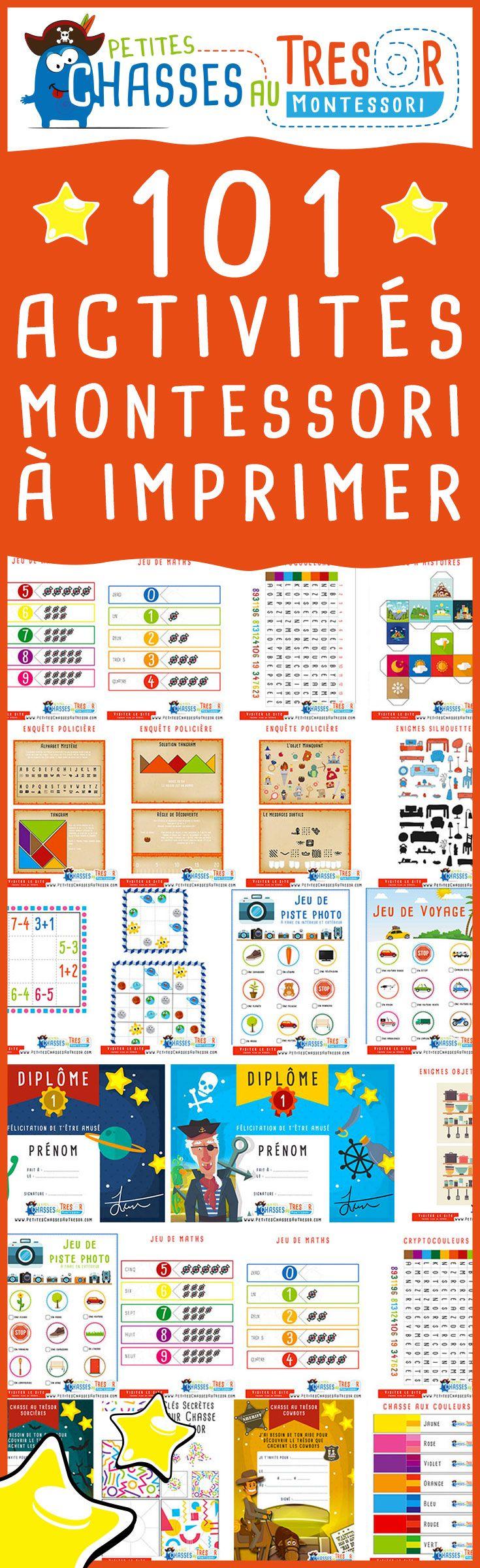 101 Activités Montessori à imprimer gratuitement pour les enfants de 3 ans à 14…