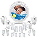 Snore Stopper- Anti Snoring Devices Stop Snoring To Prevent Sleep Apnea Easiest and Most Comfortable Snoring Aids  2 Styles  4 Sizes (8 SET)