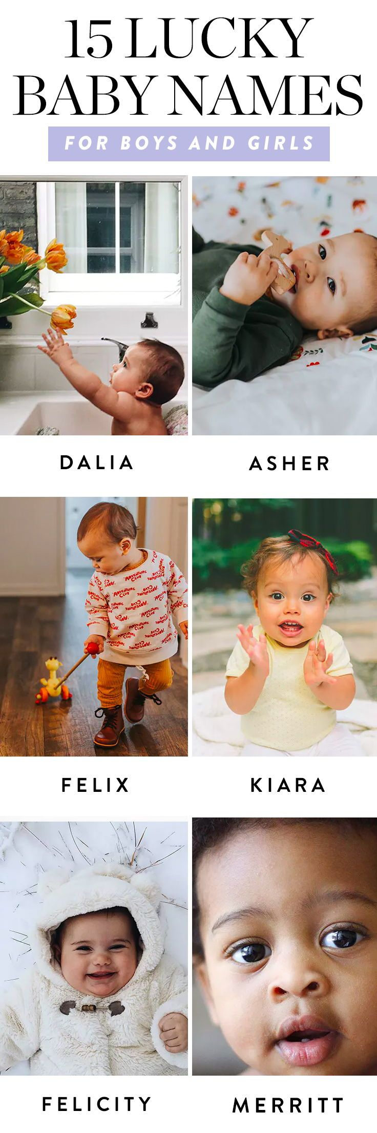 15 Lucky Baby Names for Boys and Girls #babynames #luckynames #baby