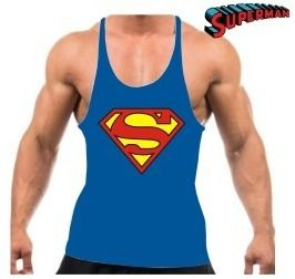 A Camiseta Regata Super Cavada Musculação Super Man Modelo Masculino - Cor Azul - 20% Off é produzida em malha fria (67% poliéster e 33% viscose). Este tecido possui um excelente caimento além de ser super confortável. Estampas confeccionadas em silk scree