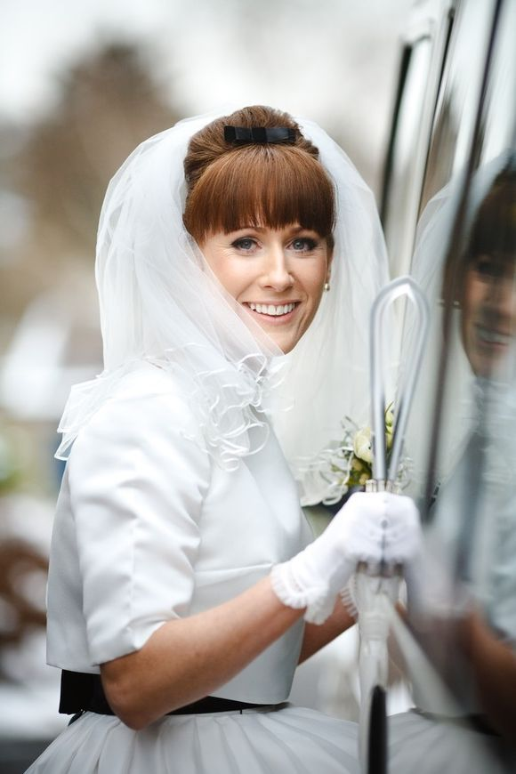 A Bride Who Made Her Own 1960s Inspired Wedding Dress Using Vintage Pattern Petticoat