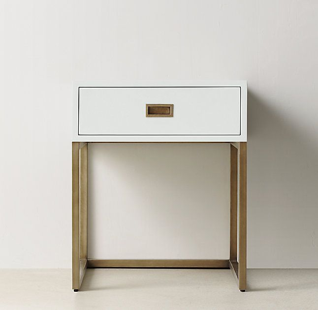 17 best ideas about gold nightstand on pinterest for Metal nightstand ikea