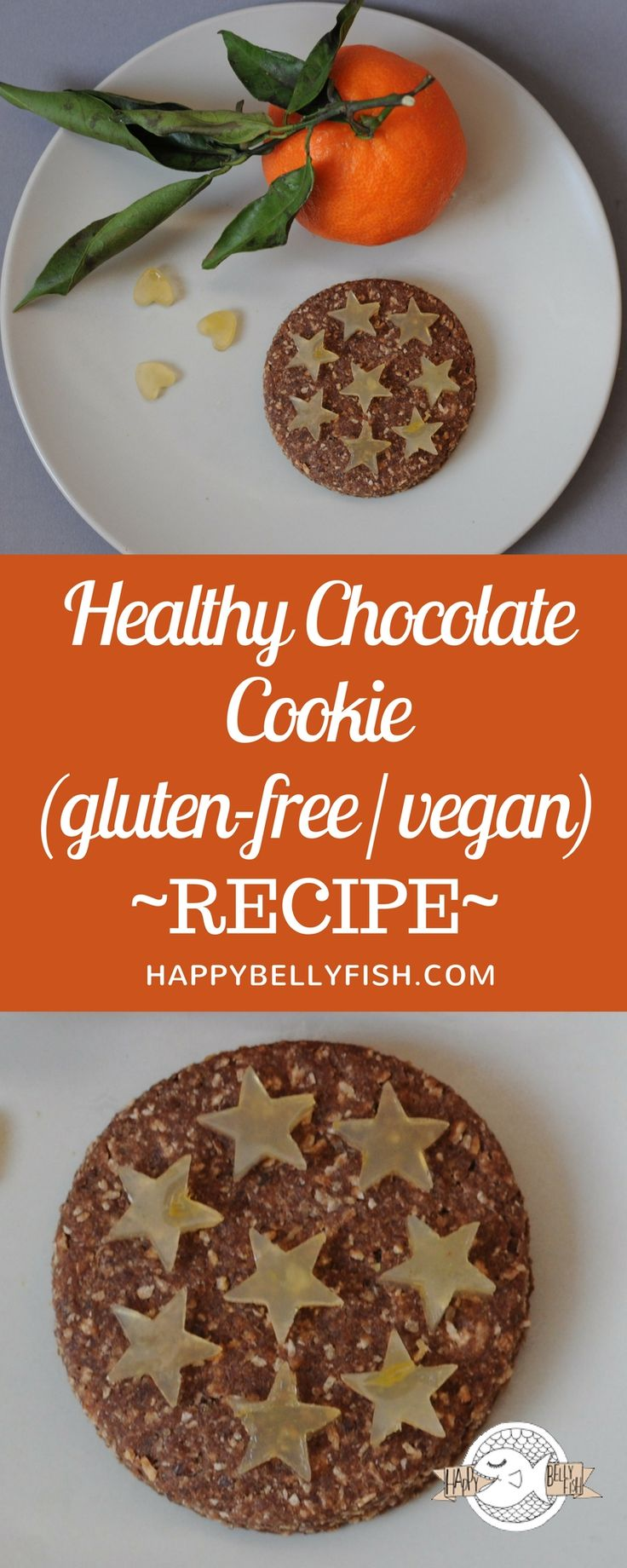 Healthy Chocolate Cookie: Gluten-free and Vegan Recipe https://happybellyfish.com/recipes/healthy-chocolate-cookie-gluten-free-vegan-recipe/