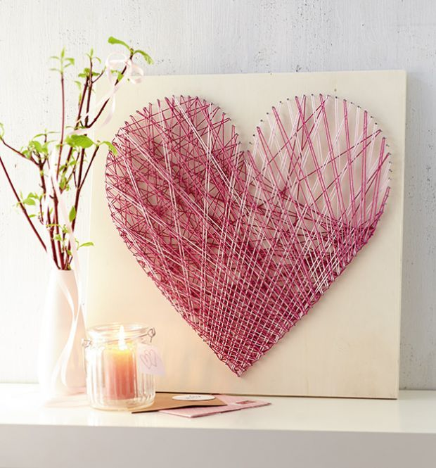 Heart String Art | TOPP  This is super cute, but it would probably take a really long time to make. At least, that's what I have heard.