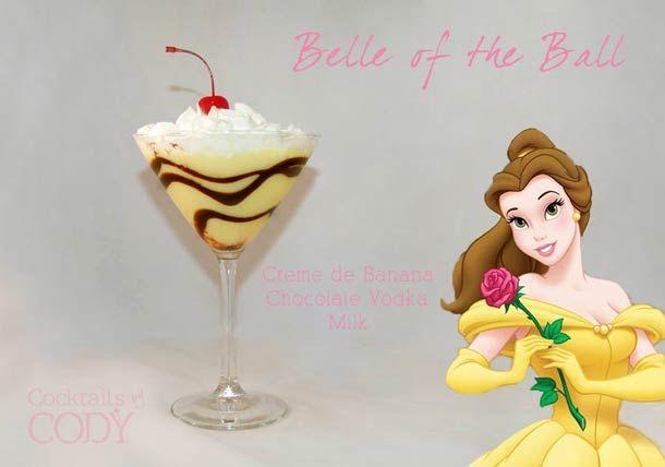 """Belle of the Ball """"Disney Cocktails"""", imaginés par Cody, créateur de cocktail indépendant à Washington."""