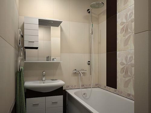 Ванная комната 3 кв. м. Фото 9