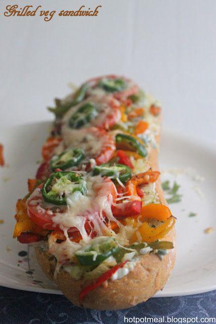 Hot Pot Cooking: Grilled veg sandwich