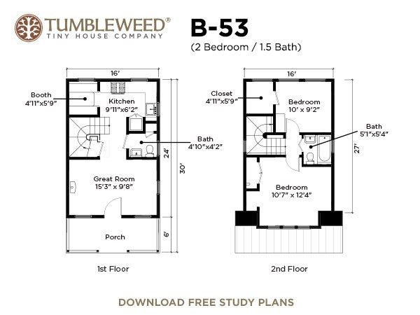 22 best houses plans images on pinterest small homes for Tumbleweed floor plans